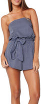 Faithfull The Brand Blue Striped Romper