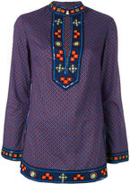 Tory Burch embroidered kaftan - women - Cotton - 5