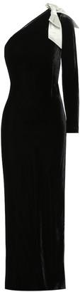 Polo Ralph Lauren Velvet one-shoulder gown