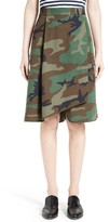 Women's Harvey Faircloth Camouflage Print Asymmetrical Skirt