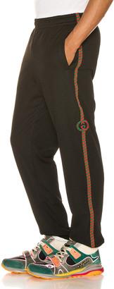 Gucci Mesh Jogging Pant in Black & Multi   FWRD