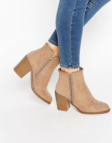 London Rebel Mid Heeled Ankle Boots