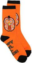 K. Bell Women's Pumpkin Owl Women's's Crew Socks -Orange