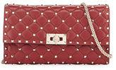 Valentino Garavani Rockstud Spike Quilted Napa Leather Wallet on Chain