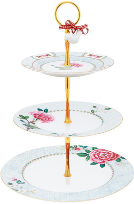 Pip Studio Blushing Birds 3 Tier Cake Stand - White