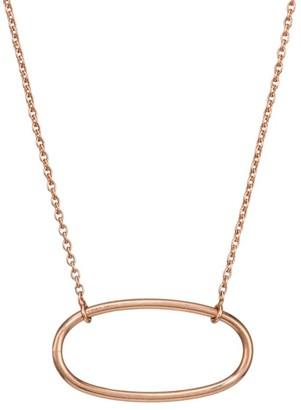 ginette_ny 18K Rose Gold Mini Ellipse Pendant Necklace