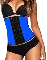 YIANNA Women's Latex Sport Girdle Waist Training Corset Waist Shaper,CA-U37G-Black-6XL