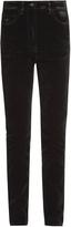 Tomas Maier High-rise skinny velvet jeans