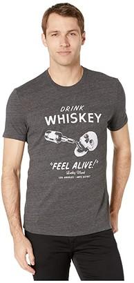 Lucky Brand Drink Whiskey Tee (Jet Black) Men's Clothing