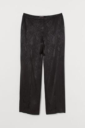 H&M H&M+ Jacquard-weave Suit Pants - Black