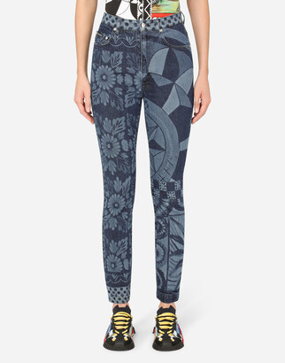 Dolce & Gabbana Grace Jeans With Carretto Print
