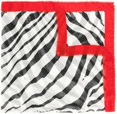 Lanvin zebra print scarf