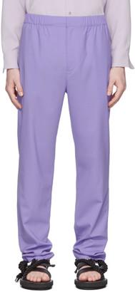 Tibi SSENSE Exclusive Purple Eamon Pull-On Trousers