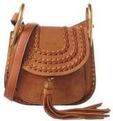 Chloé Hudson Mini Braided Suede Shoulder Bag.