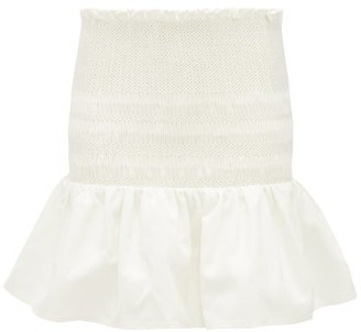 Sir - Arlo Smocked Cotton-twill Mini Skirt - Ivory