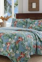 Tommy Bahama Southern Breeze Full/Queen Quilt & Sham 3-Piece Set - Water Blue