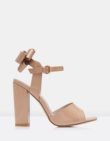 Forever New Origami Bow Block Heels