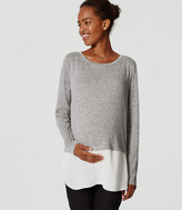 LOFT Maternity Two In One Sweater