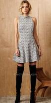 Greylin Mock Neck Knit Cocktail Dress