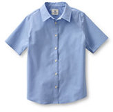 Classic Girls Short Sleeve Stretch Shirt-Light Sea Blue