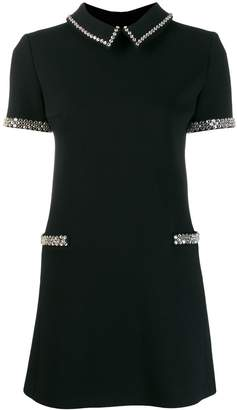 Saint Laurent embellished short-sleeve dress