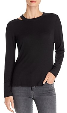 Red Haute Long-Sleeve Cut-Out Top