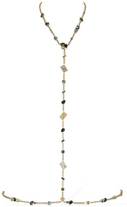 Versace Greek Motif Body Chain W/ Crystals