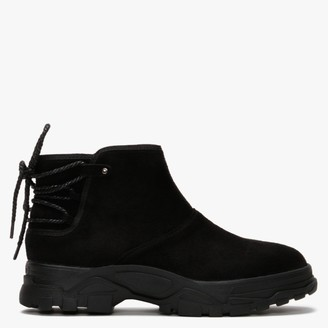 Df By Daniel Yeak Black Tie Back Ankle Boots