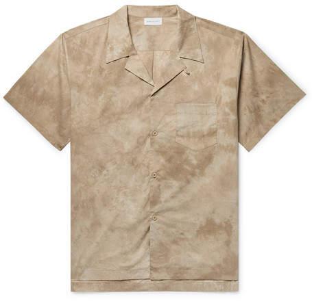 John Elliott Camp-Collar Tie-Dyed Cotton-Poplin Shirt