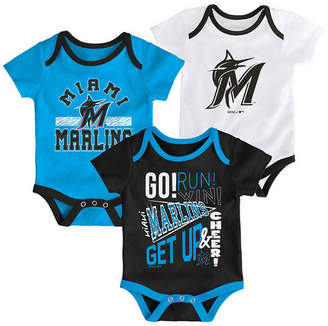 Outerstuff Baby Miami Marlins Newest Rookie 3 Piece Bodysuit Set