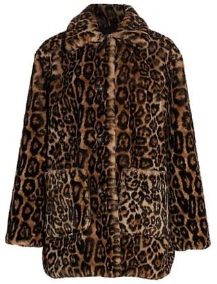A.L.C. Bolton Leopard Print Faux Fur Coat