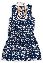 Imoga Toddler's, Little Girl's & Girl's Nila Two-Piece Heart-Print Dress & Necklace Set