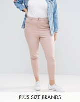 New Look Plus Washed Coloured Skinny Jeans