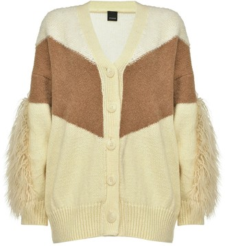 Pinko Paneled V-Neck Cardigan