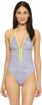 Milly Melange Jersey Acapulco Maillot