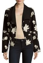 August Silk Printed Front-Open Jacket
