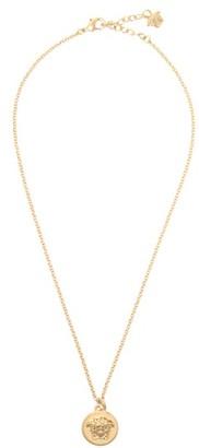 Versace Medusa Coin Necklace - Womens - Gold