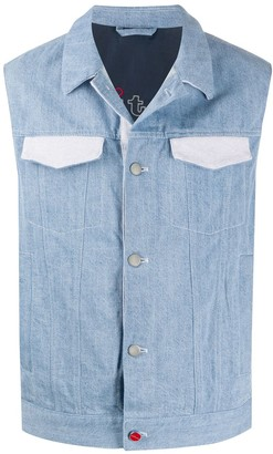 Kiton Contrasting Pocket Denim Gilet
