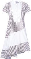 Carven asymmetric hem striped dress