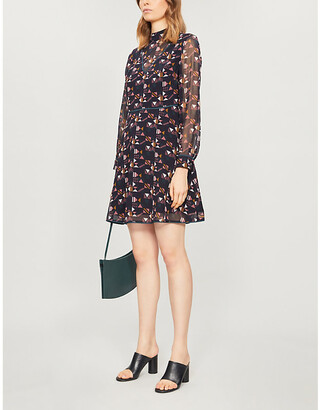 Ted Baker Nordic Puzzle high-neck crepe dress