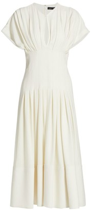 Proenza Schouler Corset Crepe Midi Dress