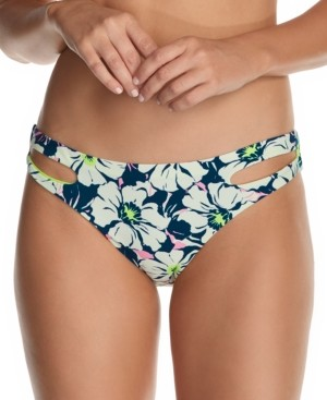 Raisins Juniors' In Bloom Weekend Cutout Bikini Bottoms Women's Swimsuit