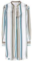 Loro Piana Camicia Cotton And Silk Blend Printed Shirt