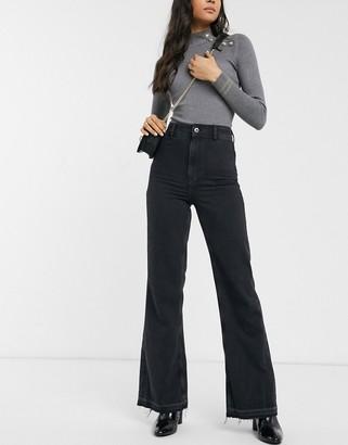 Free People mindy rigid flare jeans-Black