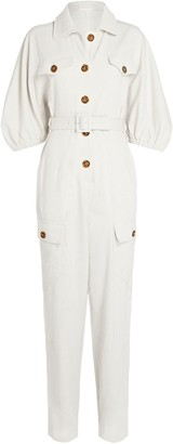 Divine Heritage Raglan Sleeve Belted Jumpsuit