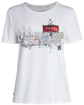 Karl Lagerfeld Paris Logo Graphic T-Shirt