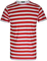 RIDDLED WITH STYLE Mens Stripe T Shirt Short Sleeve Tees#( Stripe T Shirt#XLarge#Mens)