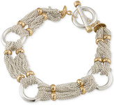 Lauren Ralph Lauren Two-Tone Multi-Chain Ringed Toggle Bracelet