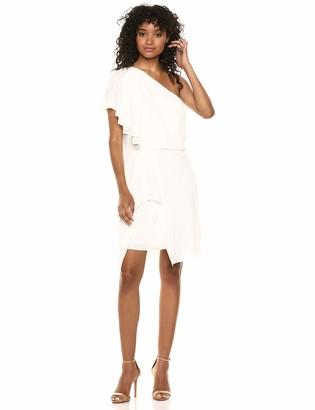 Halston Women's Flowy ONE Shoulder Dress