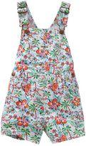Osh Kosh Toddler Girl Tropical Twill Shortalls